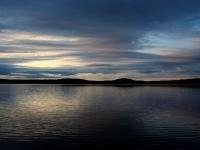 coucher de soleil sur le lac nasigon hautes laurentides