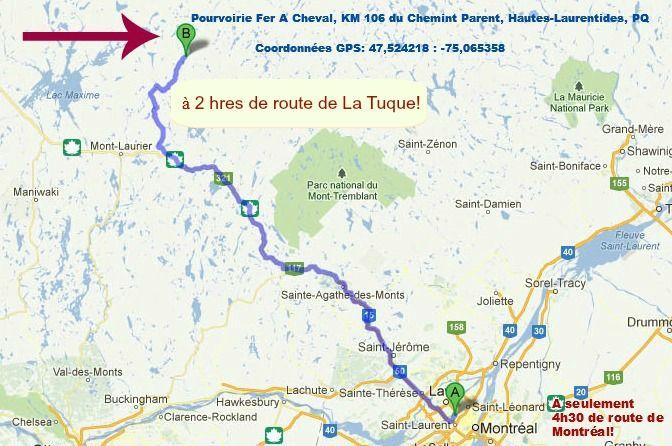 Directions | Pourvoirie Fer A Cheval (Hautes-Laurentides) PQ