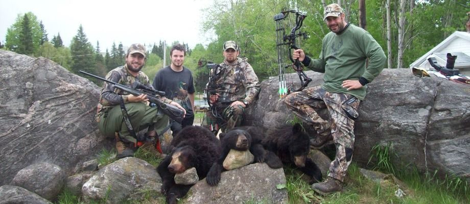 Memorable Trophy Bear Hunting at Fer A Cheval Outfitter: 321 pounds!