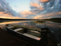 lac-nasigon-at-sunset-Pourvoirie Fer A Cheval (Hautes-Laurentides)
