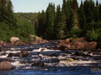 Les rapides de la Rivière Bazin à la pourvoirie Fer A Cheval, Hautes-Laurentides