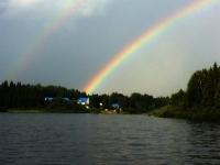 Double arc-en-ciel sur le lac Nasigon