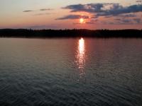 Coucher de soleil sur le lac Nasigon au Fer à Cheval