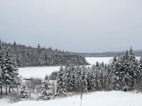 paysages d'hiver sur le lac Nasigon