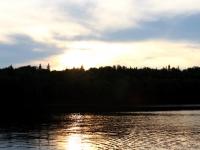 Coucher de soleil sur le lac Nasigon (Laurentides)