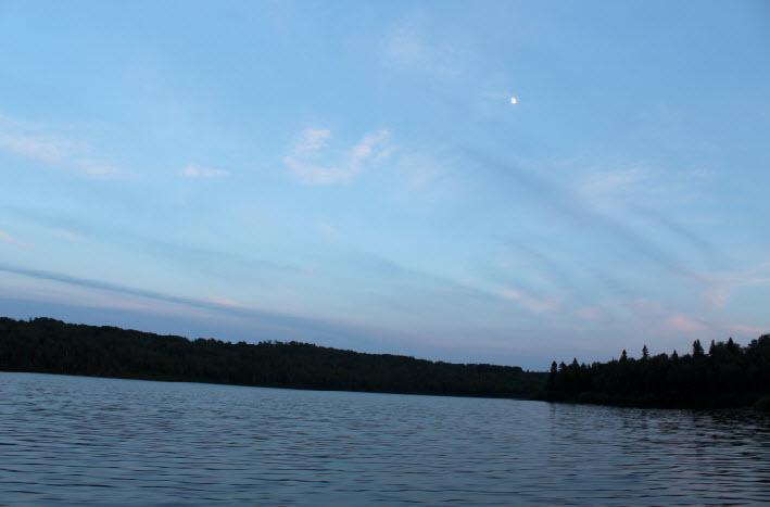 Paysages sur le lac Nasigon au fer à Cheval