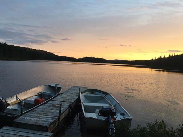Coucher de soleil sur le lac au Fer à Cheval