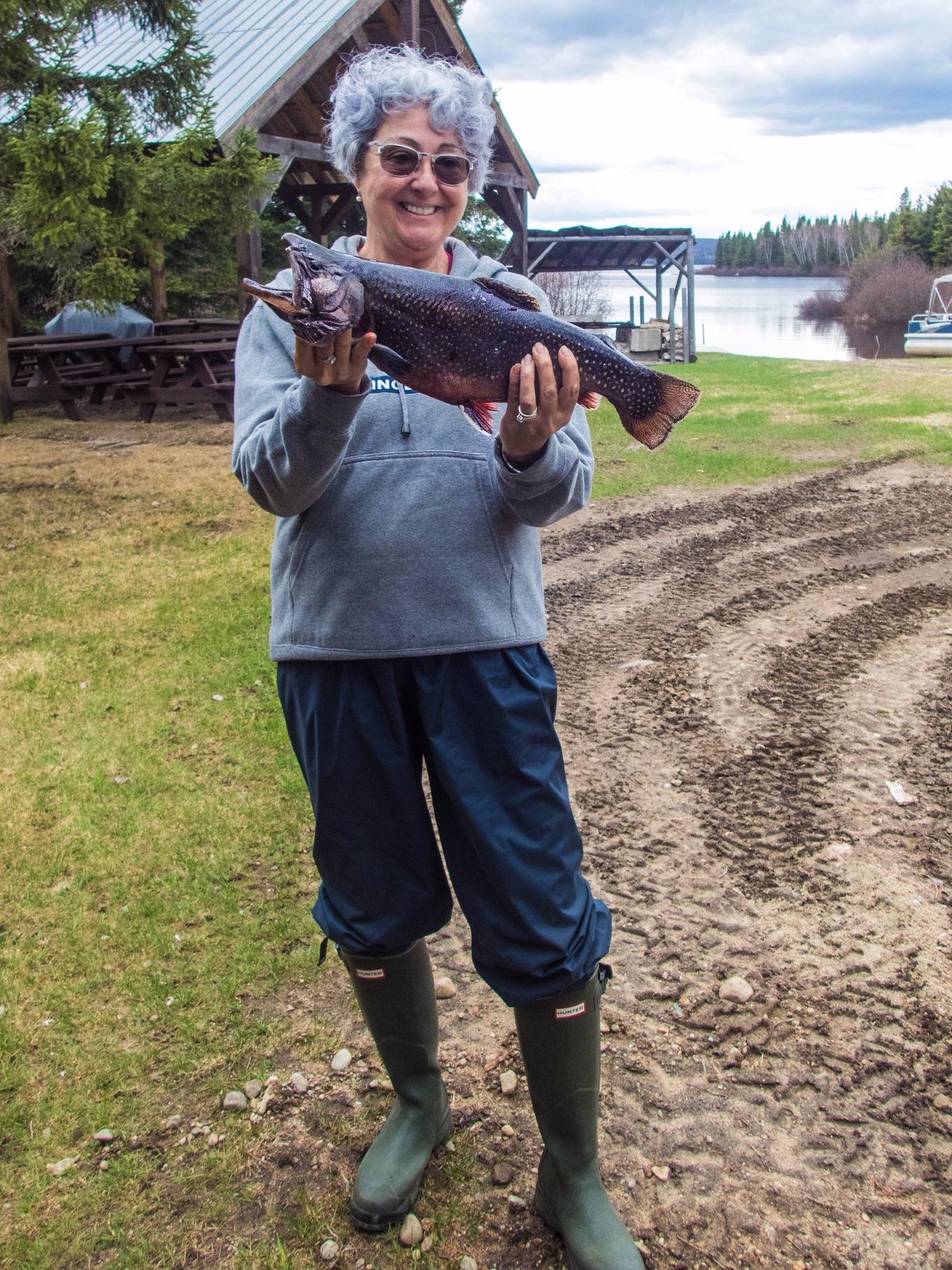 Pêche à la truite au fer à Cheval