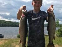 Olivier pêche la truite au Fer à Cheval