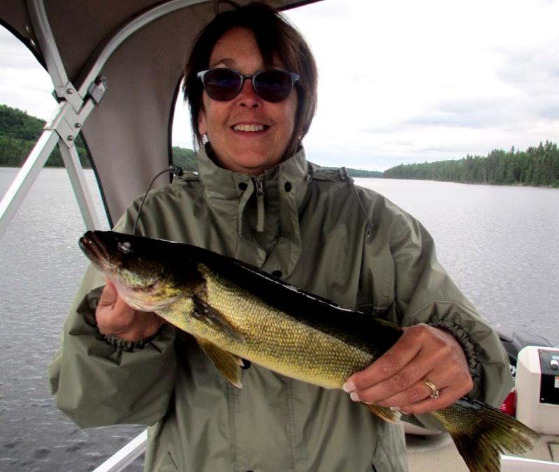 Pêche au doré sur le lac Duchastel