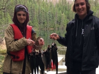 Pêche à la truite dans les Laurentides