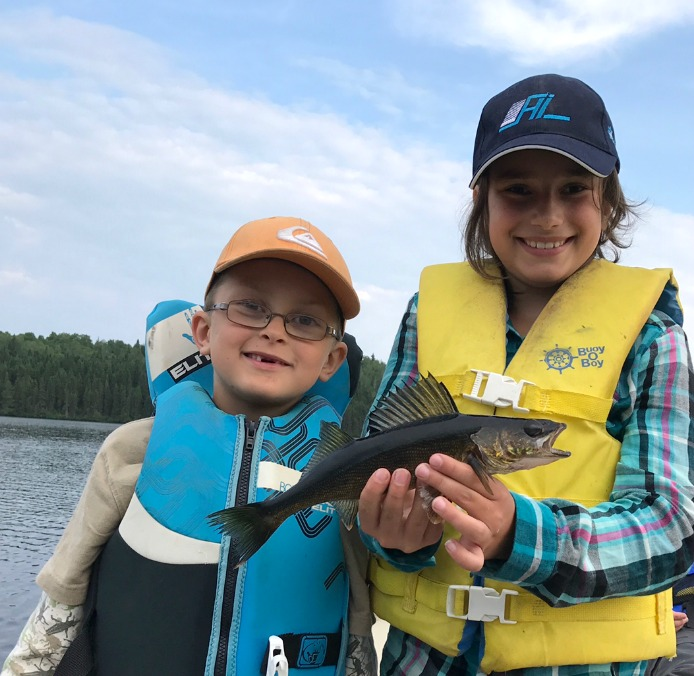 pêche au doré en famille