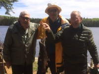 peche à la truite sur le lac girène au Fer à Cheval, Hautes-Laurentides
