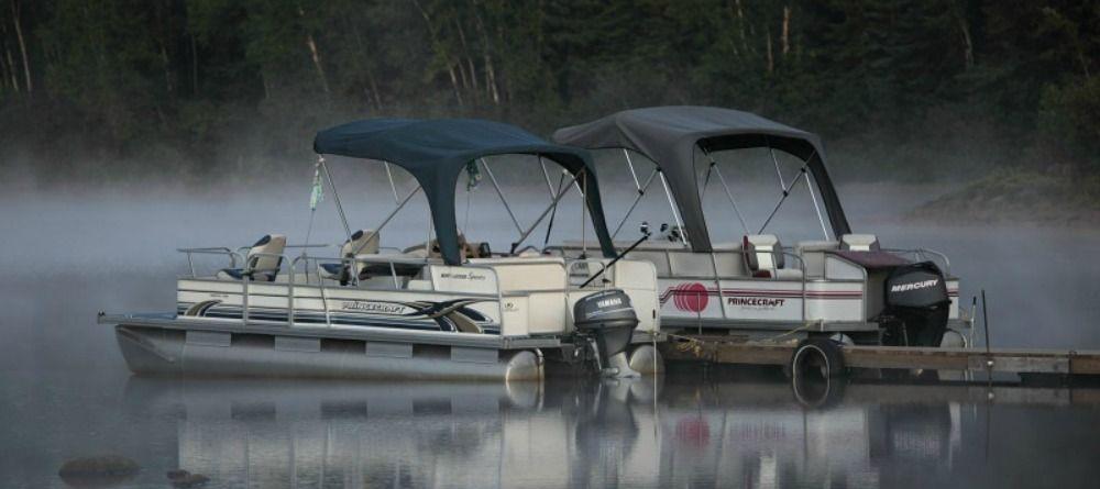 A relaxing way of fishing on Nasigon lake (Upper Laurentians)