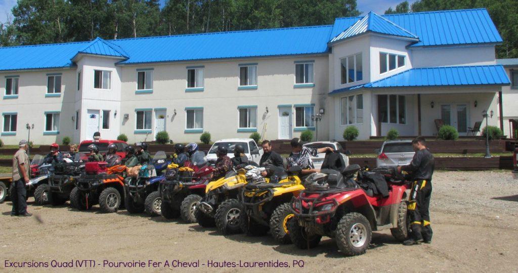 Expedition Quad VTT - Départ Pourvoirie Fer A Cheval - Hautes-Laurentides