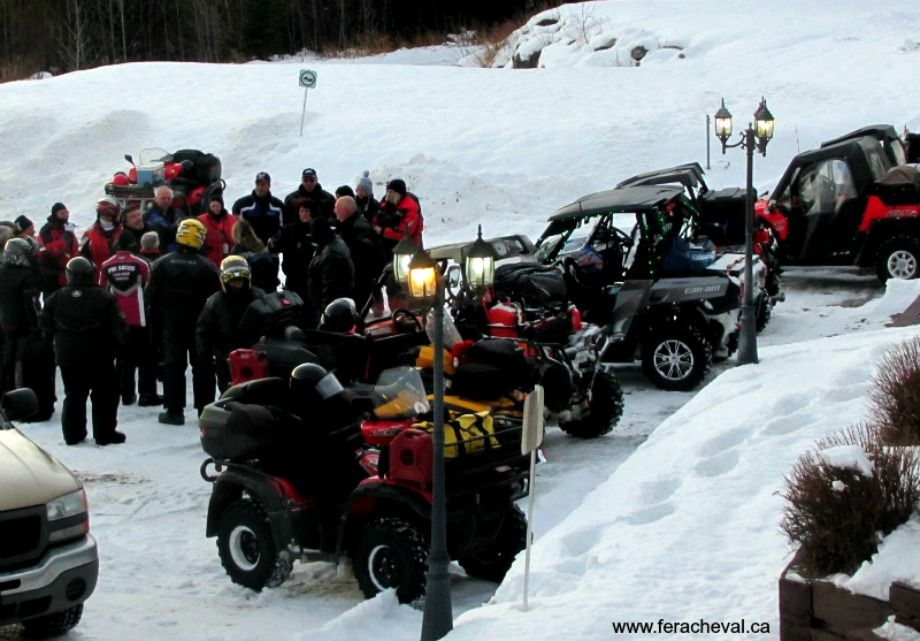 Happy to serve ATV guests at Fer à Cheval Outfitter Lodge!