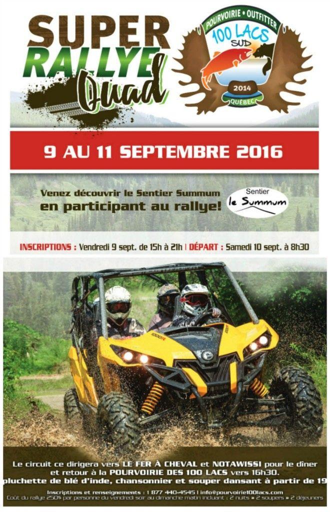 super rallye quad pourvoirie des 100 lacs laurentides