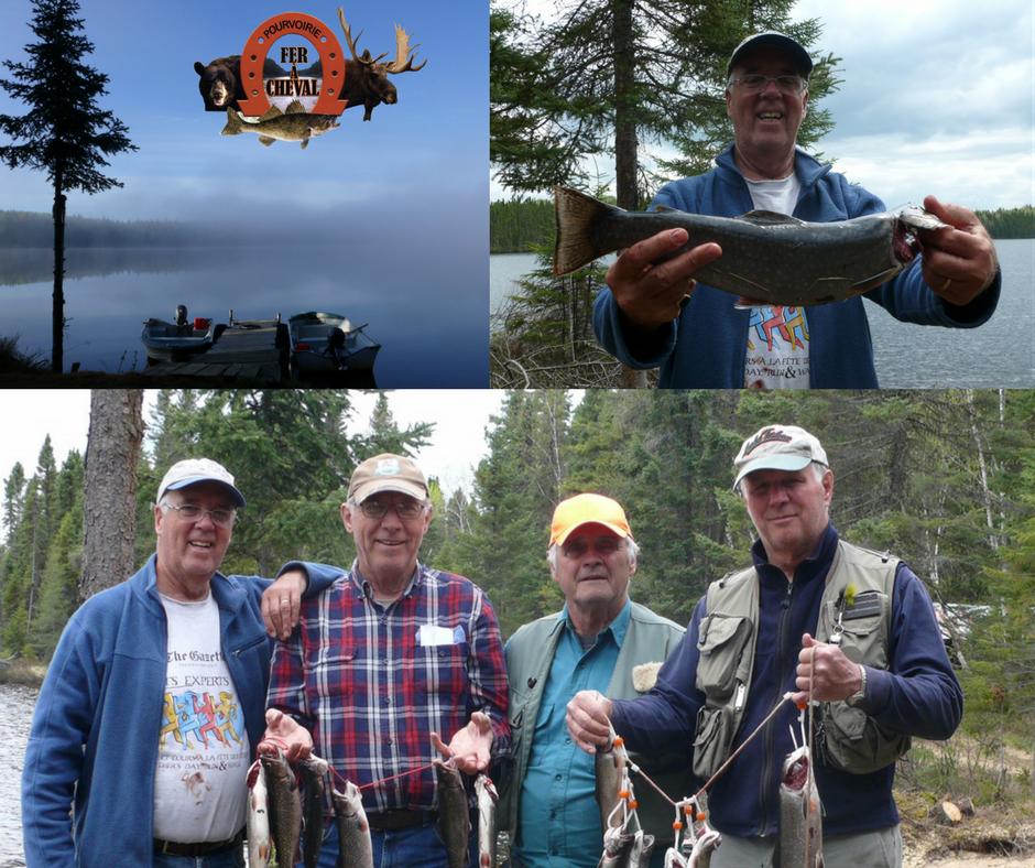 tom et ses amis àla pêche truite mouchetée