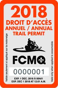 Droit accès motoneige 2018 fcmq