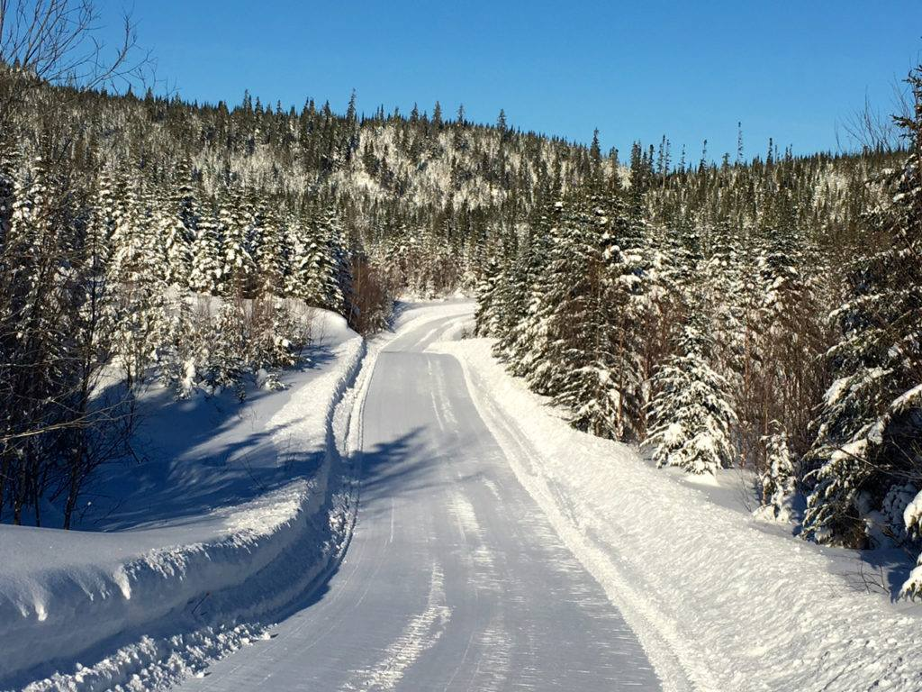 snowmobile trail excellent conditions