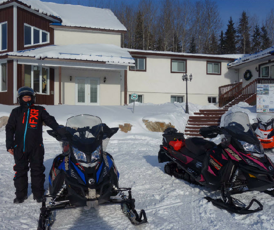 snowmobile relay on TQ13 Upper Laurentians