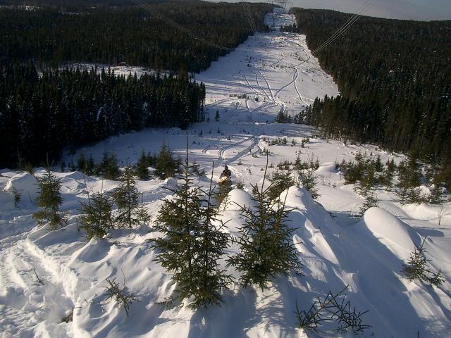 Motoneige hors piste Hautes Laurentides