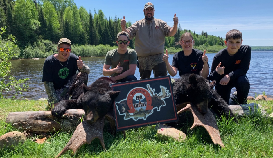 Chasse ours pourvoirie laurentides fer a cheval